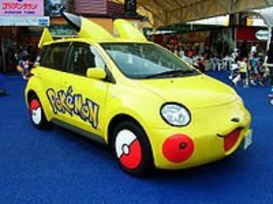 voiture pikachu