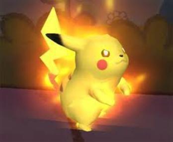 pikachu en rage colere noir