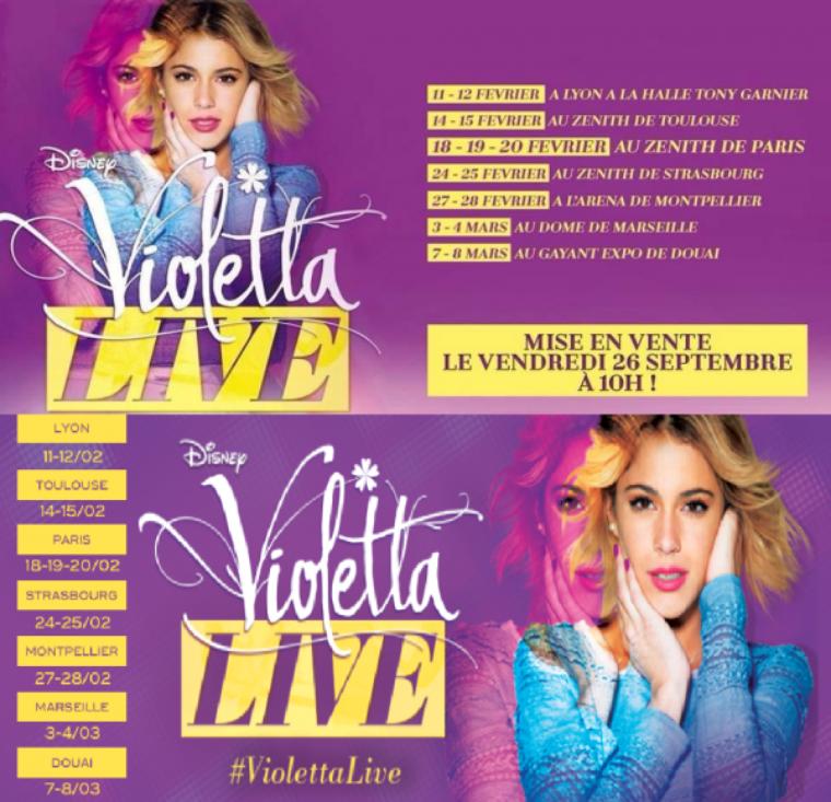 Les dates de Violetta Live 2015 !!!
