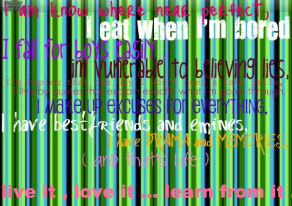 This took me 20 minutes to make on Picnik !