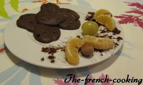 Palets au cacao et aux pépites