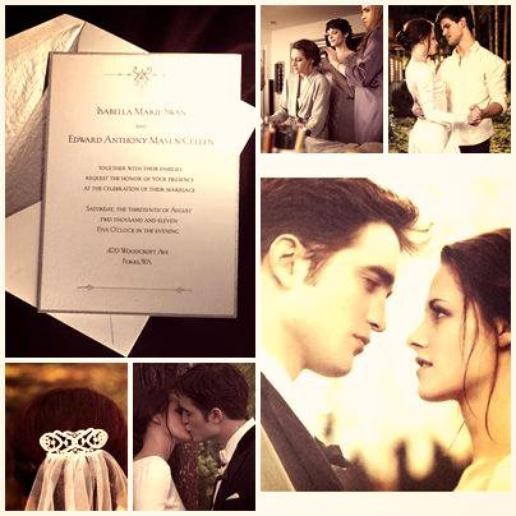 ..Aperçu du mariage de Bella & Edward Cullen..