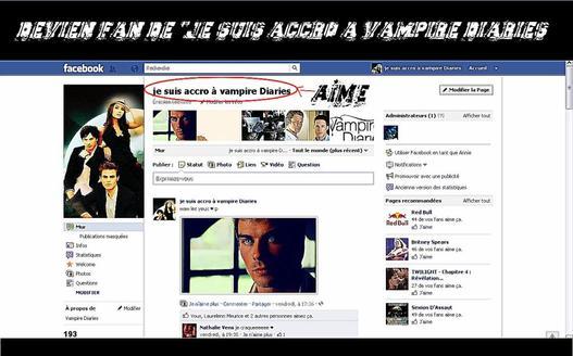 Ma page facebook devener fan vous les accro :)