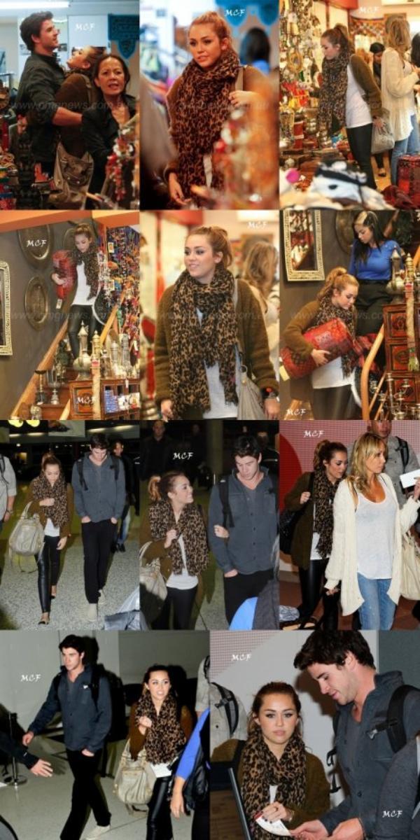Les amoureux sont ensuite allés faire un peu de shopping, avant de se rendre à l'aéroport pour prendre un avion direction Brisbane !!!