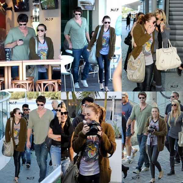 Miley est allée déjeuner aujourd'hui (22 juin) à Brisbane avec sa mère et Liam !!!