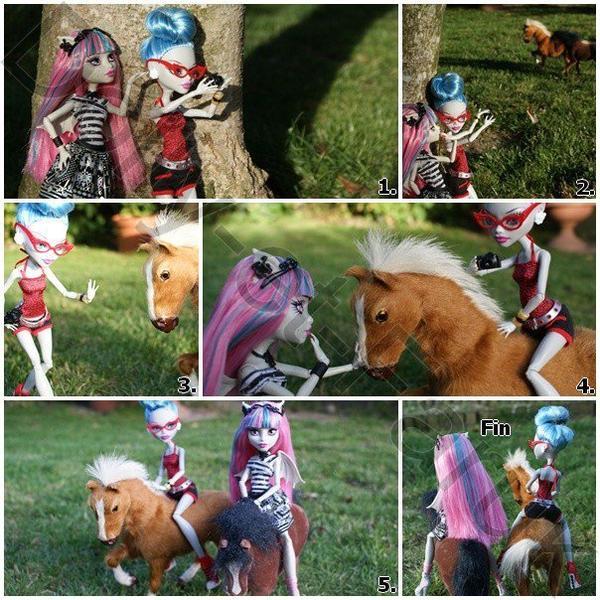 """BD """"Les chevaux sauvages"""" avec Ghoulia et Rochelle"""