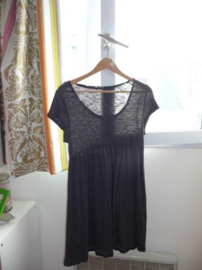 Robe American Vintage noir ajouré taille S