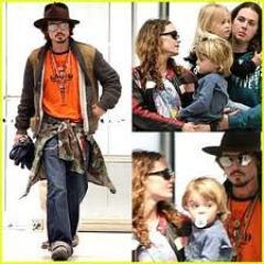 Johnny Depp et sa Famille