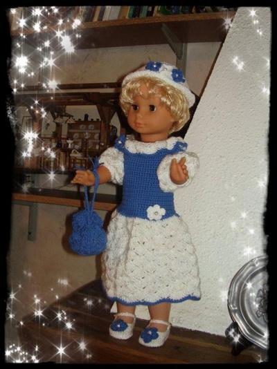 ensemble pour grande poupée de 60cm