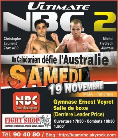 ULTIMATE NBC 2 :  samedi 19 novembre 2011