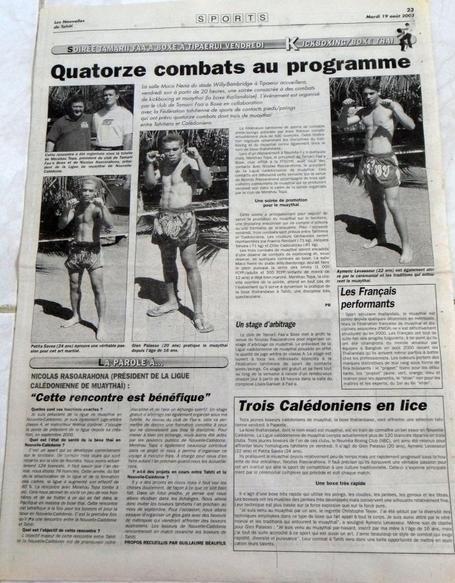 1998 à 2003 : ARTICLES de PRESSE