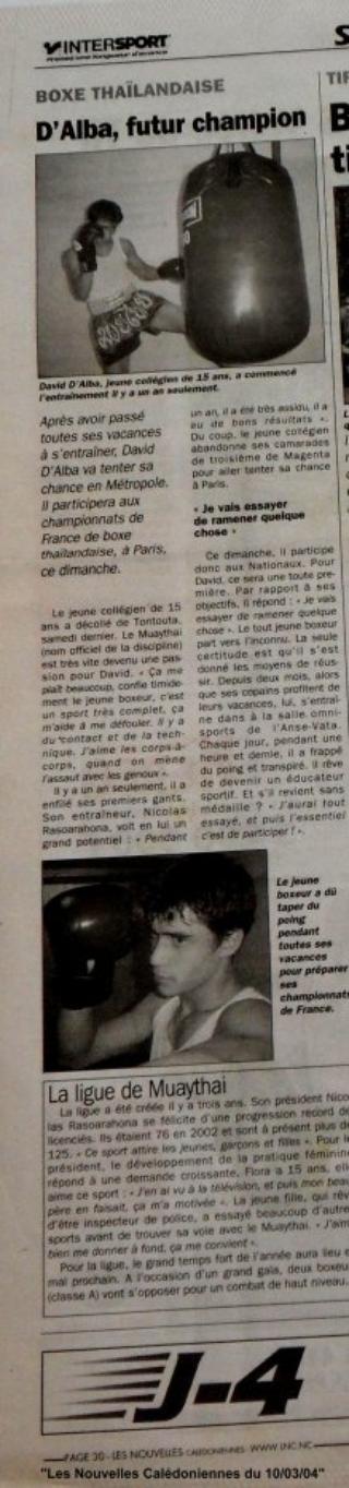 2004 - ARTICLES DE PRESSE