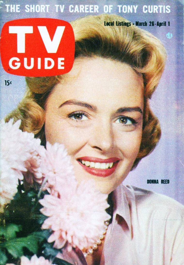 """Donna REED est une actrice américaine née le 27 janvier 1921 à Denison, Iowa (États-Unis), décédée le 14 janvier 1986 à Beverly Hills (Los Angeles). Les films comme """"La vie est belle"""", """"Le Portrait de Dorian Gray"""" ou """"Tant qu'il y aura des hommes"""" l'ont rendue célèbre."""