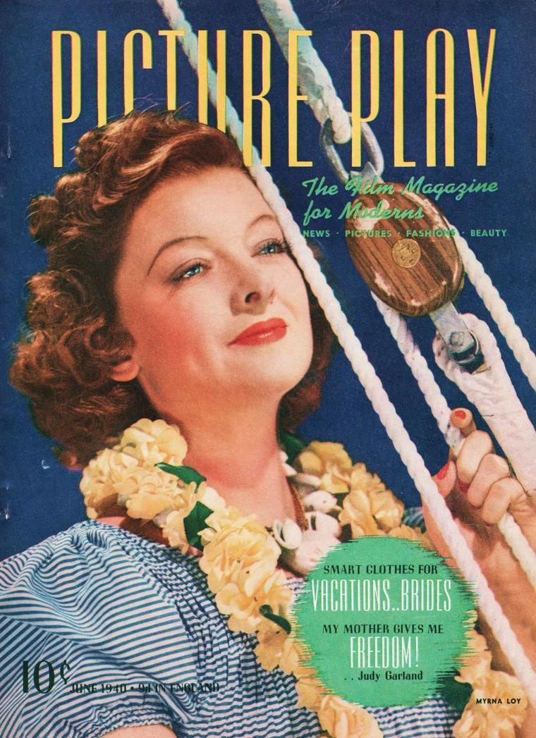 Myrna LOY est une actrice américaine, née le 2 août 1905 à Radersburg, Montana (États-Unis), morte le 14 décembre 1993 à New York. Elle fut surnommée « la reine de Hollywood » ou encore « l'épouse idéale » durant les années 1930. Elle fut un modèle féminin à cette époque. La plupart des hommes voulurent l'épouser et les femmes voulurent lui ressembler. Quelques acteurs américains l'ont harcelée afin de passer une nuit avec elle. Elle resta discrète sur sa vie privée, bien que les tabloïds voulaient en savoir plus. Elle s'est mariée quatre fois, n'eut pas d'enfants, a mené une carrière prestigieuse et s'est consacrée à des ½uvres sociales.