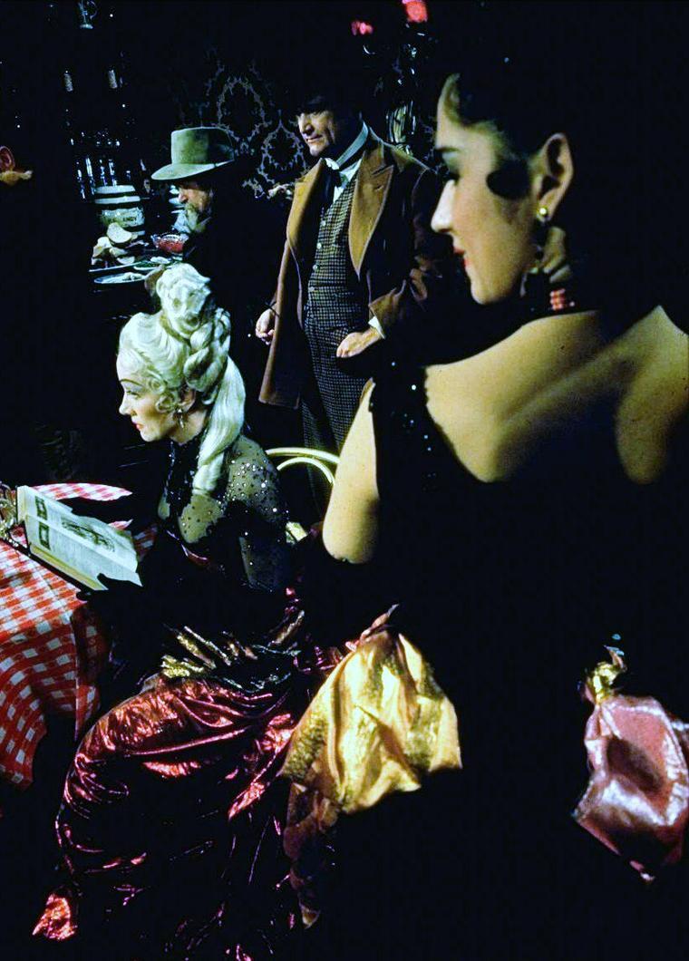 "Marlène DIETRICH by Gjon MILI on the set of ""Around the world in 80 days"" 1955."