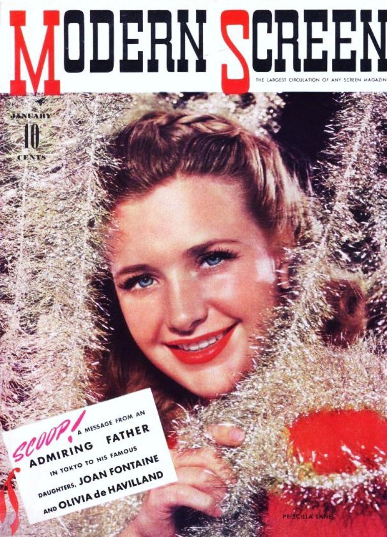 Priscilla LANE née Priscilla MULLICAN (12 Juin 1915 Indianola, IOWA - 4 Avril 1995 Andover, MASSACHUSETTS) est une actrice et chanteuse américaine.