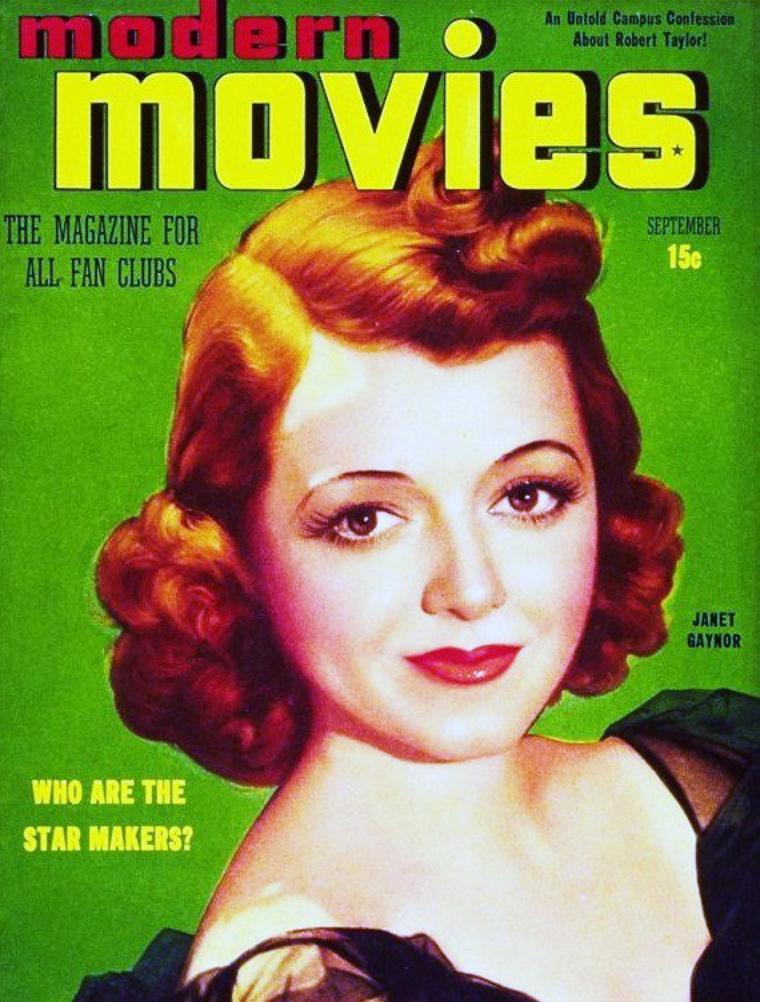 """Janet GAYNOR est une actrice américaine née le 6 octobre 1906 à Philadelphie et décédée le 14 septembre 1984 à Palm Springs en Californie. Elle a inspiré les animateurs de """"Blanche-Neige et les Sept Nains"""" pour le personnage de Blanche-Neige."""