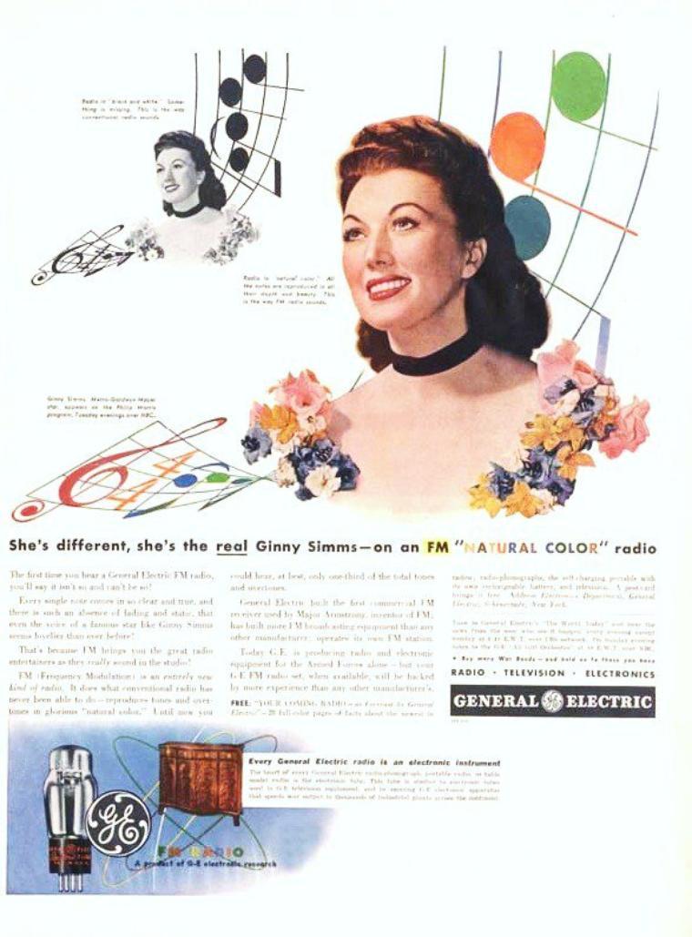Virginia E EASTVOLD dite Ginny SIMMS, née le 13 Mai 1913, décédée le 4 Avril 1994, est une chanteuse et actrice américaine.