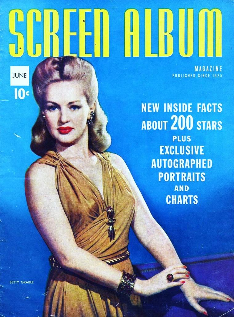 COVERS de STARS : de haut en bas : Betty GRABLE / Patricia ROC / Maureen O'HARA / Nadja TILLER / Rita HAYWORTH / Susan HAYWARD / Rita GIANNUZZI / Veronica LAKE