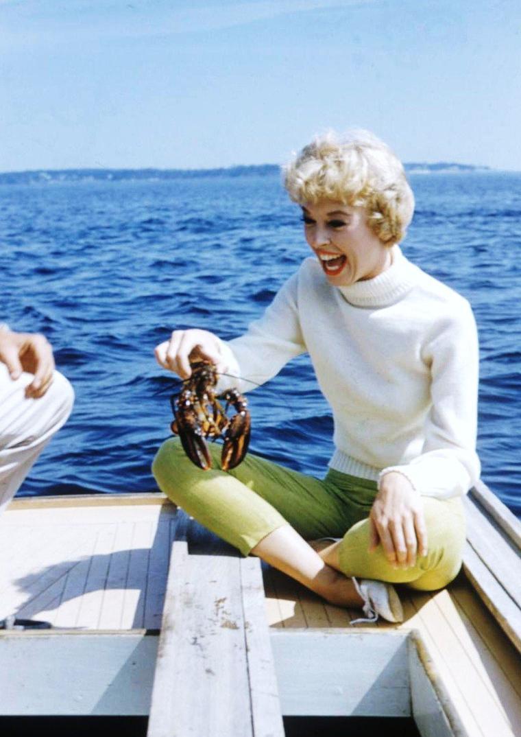 Une journée à la mer avec Barbara RUICK (1956).