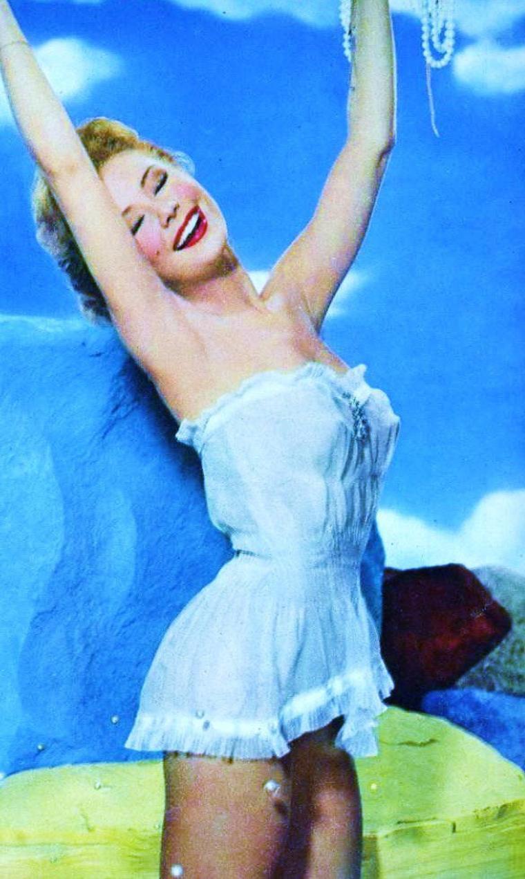 Huit STARS en lingerie... (de haut en bas) Esther WILLIAMS / Debra PAGET / Gina LOLLOBRIGIDA / Marilyn MONROE / May BRITT / Mitzi GAYNOR / Romy SCHNEIDER / Sophie HARDY