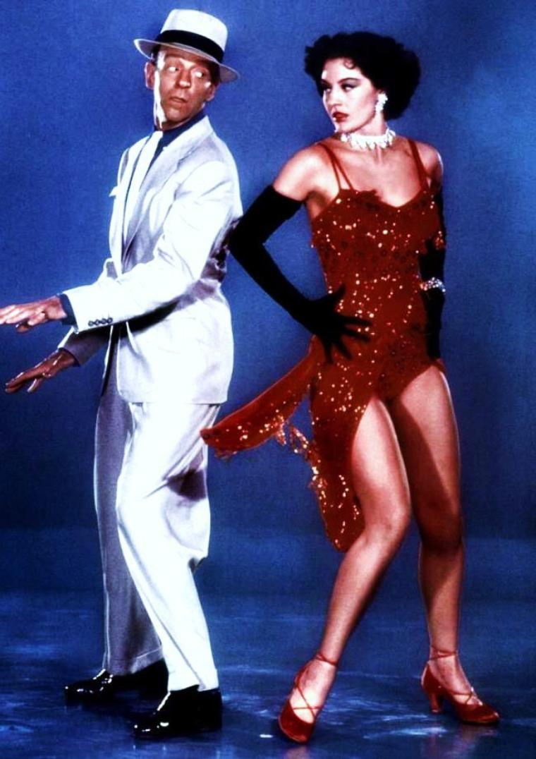 """Danse avec les STARS..."" (de haut en bas) Sheree NORTH / Cyd CHARISSE and Fred ASTAIRE / Virginia MAYO / Ann MILLER / Debbie REYNOLDS and Gene KELLY / Connie FRANCIS / Grace KELLY and Louis JOURDAN / Dorothy DANDRIDGE"