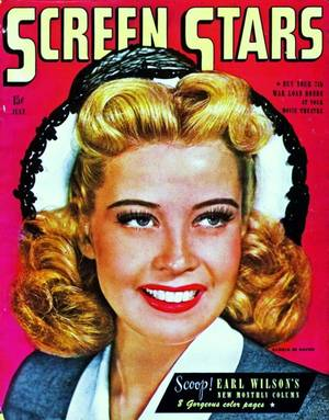 RARE Covers de STARS... (de haut en bas) Alexis SMITH / Betty GRABLE / Ann SOTHERN and Nanette FABRAY / Diana LYNN / Ginger ROGERS / Gloria De HAVEN / Ida LUPINO / Doris DAY