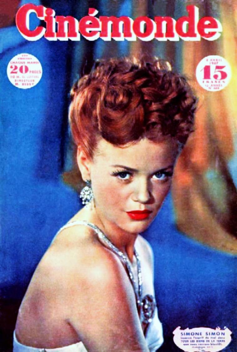 Simone SIMON, née le 23 avril 1910 à Marseille dans les Bouches-du-Rhône et décédée le 22 février 2005 à Paris, est une actrice française.