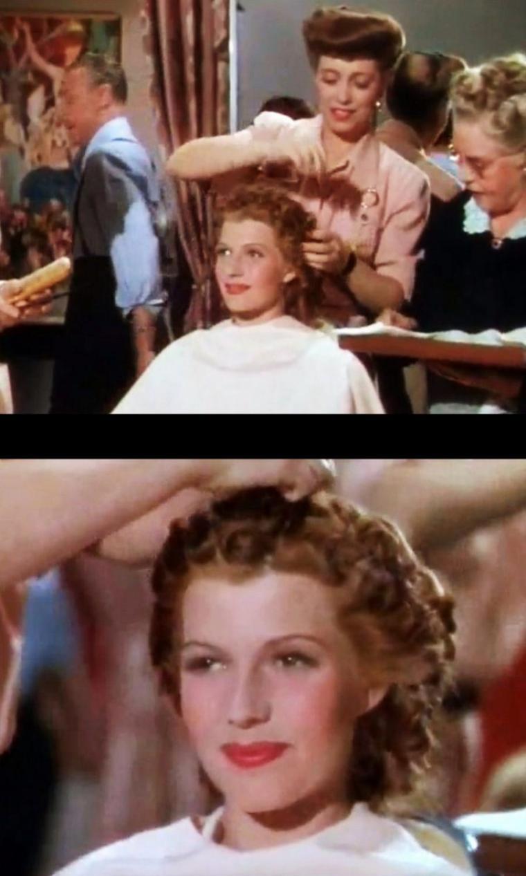 """COVERGIRL / Rita HAYWORTH... Ou comment faire la cover de """"Vanity"""" en passant par différentes étapes de maquillage (montage de mes screens d'après des archives rares)."""