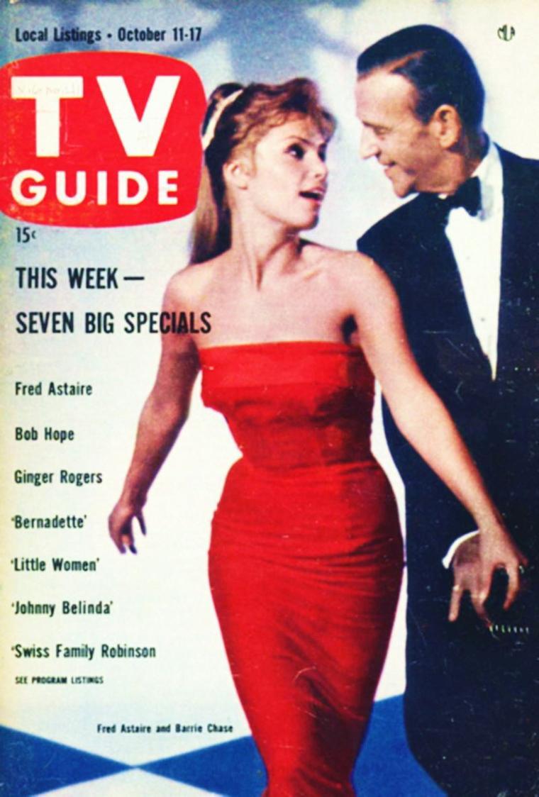 """NEWS / Barrie CHASE est une actrice-danseuse née à Long-Island, New-york, le 20 Octobre 1933 ; elle acquiert la notoriété en tant que partenaire de danse de Fred ASTAIRE, de 1958 à 1968, dans son show T.V. """"An evening with Fred ASTAIRE"""", émission à succès ; elle fait une apparition dans le film """"Le vol du phoenix"""" en 1965, où elle danse dans le désert..."""