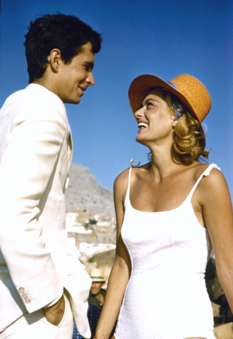 BELLE JOURNEE ENSOLEILLEE A TOUTES ET A TOUS !... (de haut en bas) Senta BERGER / Donna REED / Jean PETERS / Dorothy MALONE / Melina MERCOURI and Anthony PERKINS / Marilyn / Rita HAYWORTH / Dorothy LAMOUR