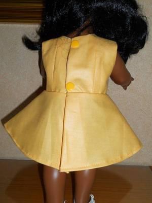 2018 Mai / robe bouton d'or/ pour EMILIE métisse