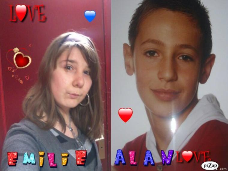 je t aime alan  emilie  + alan