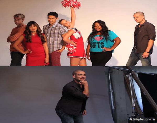 La nouvelle photo du compte à rebourd de Glee est pour Noah ( avec Mike ) + dans les coulisses du shoot