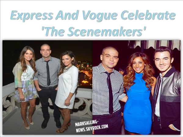 27/09/12 Mark était présent à la Express And Vogue Celebrate 'The Scenemakers' at Chateau Marmont à L.A