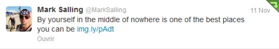 Twitter: Mark a posté une photo de lui à la peche