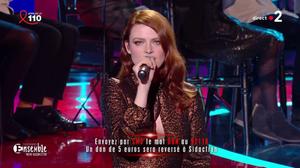 Elodie Frégé au sidaction sur France 2 le 24 mars 2018