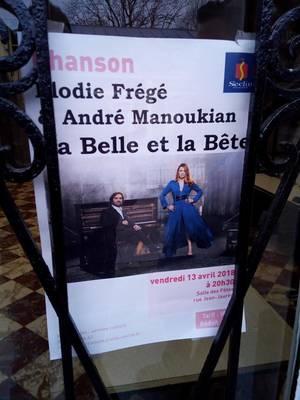 CONCERT ELODIE FREGE AVEC ANDRÉ MANOUKIAN A SECLIN ( 59 ) LE VENDREDI 13 AVRIL 2018 ( 1 )