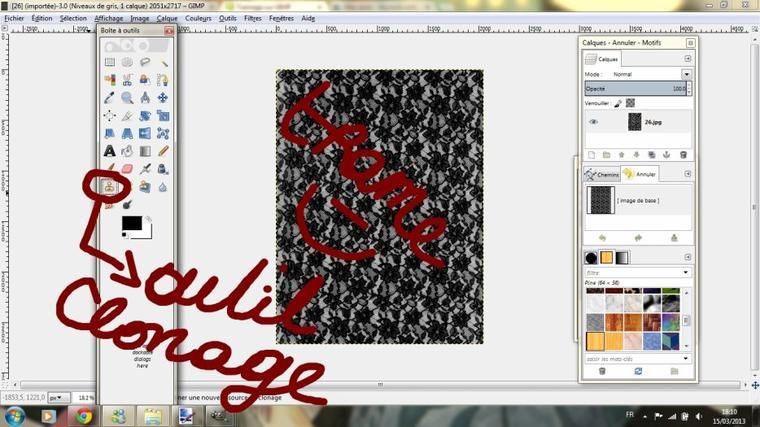 Tutoriel colorisation 3 / Dessin 2 : Le tramage sur GIMP.