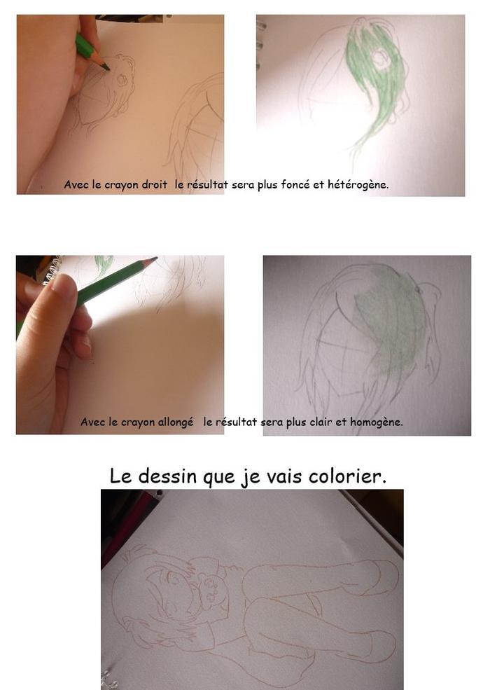 Tutoriel coloration n°6 : Les crayons de couleurs.