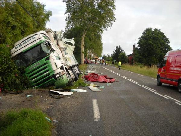 LE 13/06/2012 Terrible accident pour un chauffeur gaillacois des transports Rizzo
