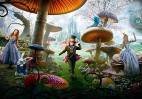 Alice au pays des merveilles revisité par Tim Burton