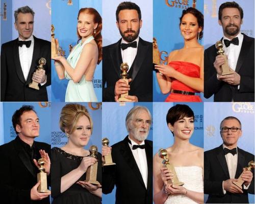Le palmarès des Golden Globes 2013