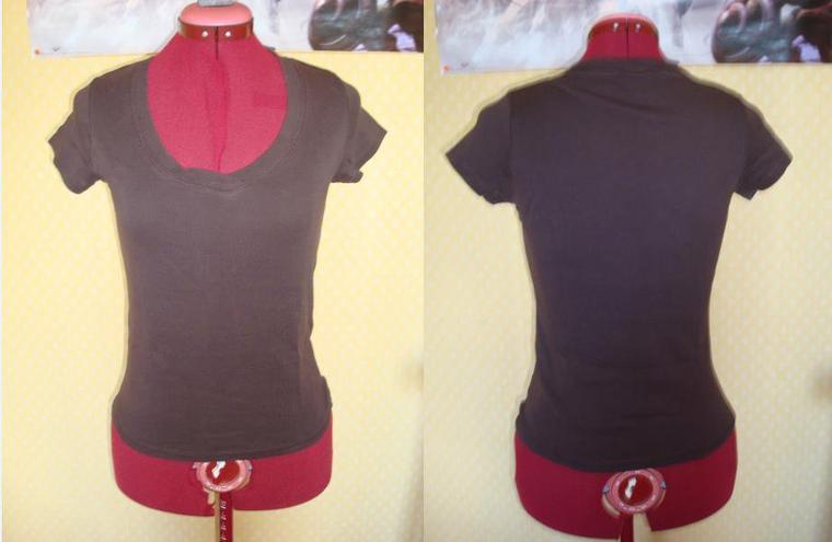 tee-shirt marron