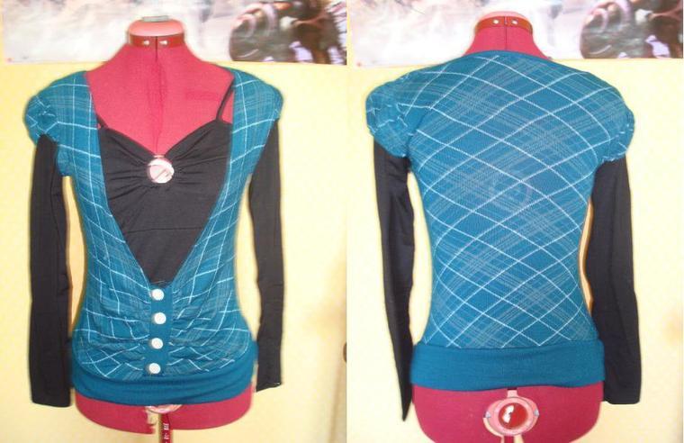pull bleu & noir