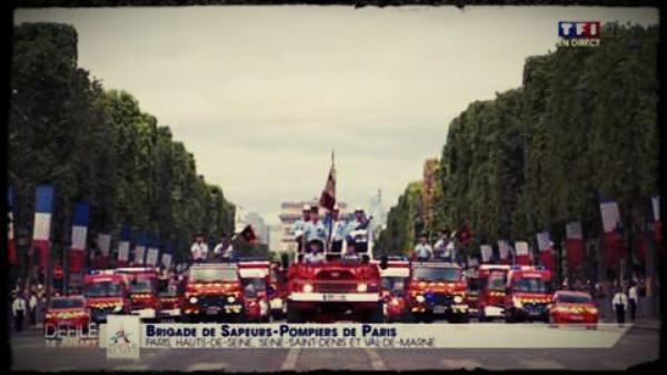 défilé du 14 juillet avec les Sapeurs-Pompiers de Paris