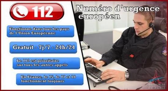 [#JournéeDu112] Pour joindre les secours partout dans l'Union Européenne, un seul numéro le 112 !!!