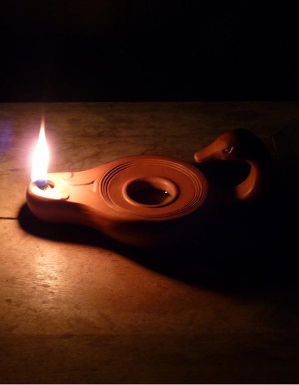 Février 2018, Lampe romaine Cygne