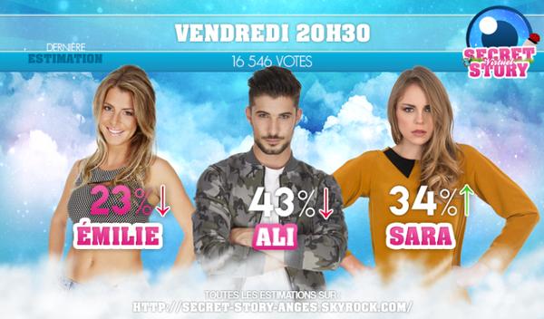 ♦ NOMINATION 1 : ÉMILIE / ALI / SARA ♦