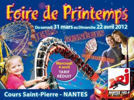 Nantes (44) Fête Foraine printemps Du 31 mars au 22 avril 2012
